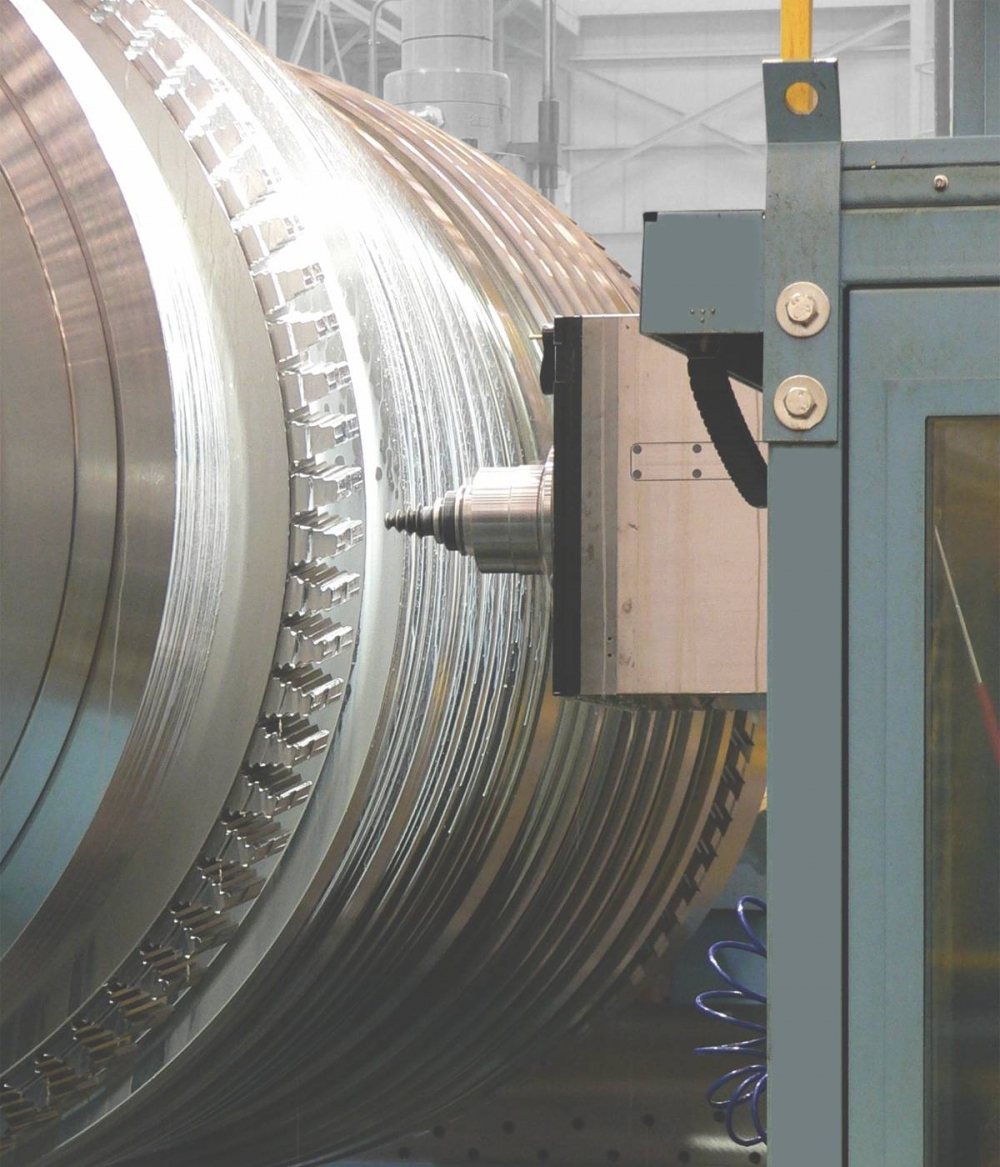 Machining of turbine rotors